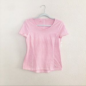 Talbots small petite striped red tee